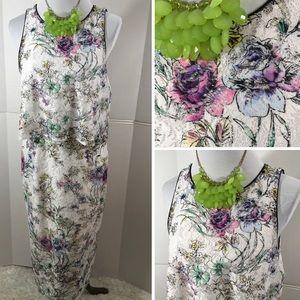 Antonio Melani floral lace maxi dress